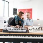 Maria Elisabetta Marelli e Sandro Mussida, produzione ad AGON. ph Diego Ronzio